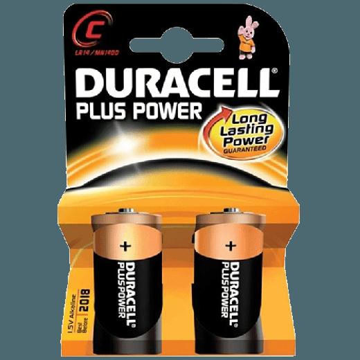 01628 - 10pc. per box - Duracell Plus Power Alkaline C/MN1400 2x Blister
