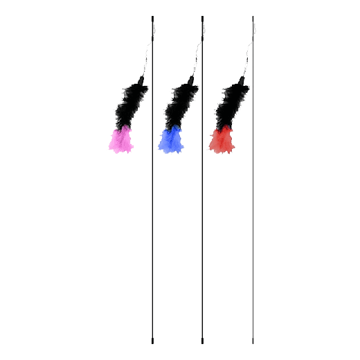 0MW001 - 3pc. per unit - Magic Wand Glamour Puss