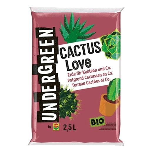 2830702004 - 10pc. per pallet UNDERGREEN Cactus Love Bio Potting Ground Cactuses & Fat Plants 2.5L