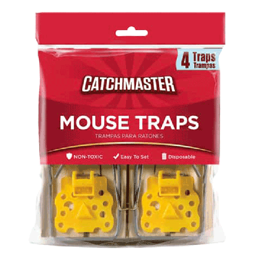 604-12F – 12pc. per box - Catchmaster® Mouse Snap Trap 4pack