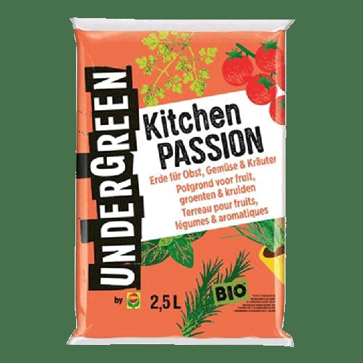 2830002004 - 10 per pallet - UNDERGREEN Kitchen Passion Bio Potting Soil Fruit, Vegetables & Spices 2.5L