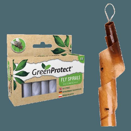 GPFS1 – 6pc. per box – Green Protect Fly Spirals