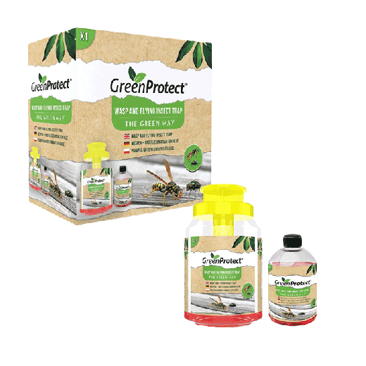 GPWT1 – 6pc. per box – Green Protect Wasp and Flying Insect Trap + including refill added